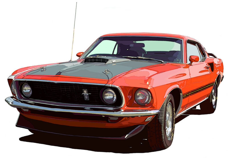 Ford 1969 Mustang Mach I canvas art print by Richard Browne