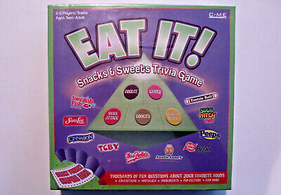 EAT IT! Snacks & Sweets Trivia Board Game New -
