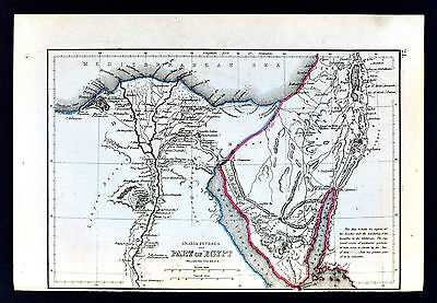 1871 Classical Map - Ancient Egypt  Memphis Alexandria Great Pyramids Heliopolis