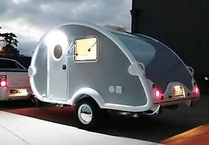 NEW RETRO VINTAGE TEAR DROP CARAVAN CAMPER  FULL CUSTOM HOTROD North Geelong Geelong City Preview