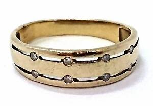 9ct Men's Yellow Gold Diamond Ring Joondalup Joondalup Area Preview