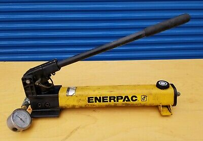 Enerpac Hand Pump With Hose. 5000 Psi. Used.