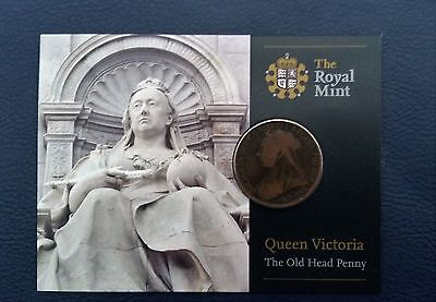 """Royal Mint Queen Victoria """"The Old Head Penny"""""""