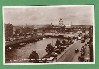 Customs House River Liffy Dublin RP pc unused 1937 Valentines Ref H137
