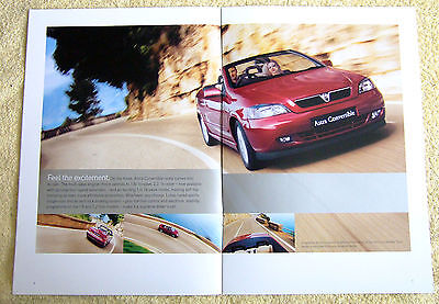 Vauxhall Astra Convertible 2003 Models No1  1.6-16v, 1.8-16v & 2.2-16v