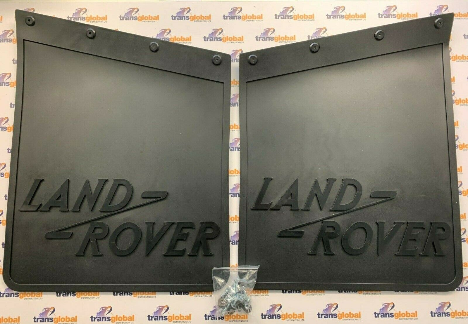 """320590 Land Rover Series 2//2a//3 SWB Rear Mud Flaps 88/"""" Pair with Brackets"""