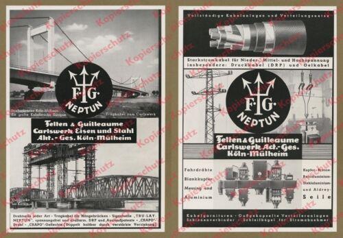 Felten & Guilleaume Köln Kabel Elektrotechnik Brückenbau Hubbrücke Karnin 1935