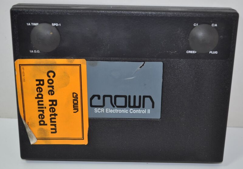 Crown Forklift Lift Truck SCR Electronic Control II Part# 107962-OOR