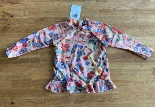 Zimmerman KIDS Little Girls Swimsuit Lovelorn Frill Rashie, Floral Size 1 - NEW