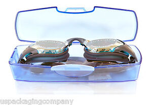 Blue-Mirrored-Swimming-Goggles-Case-Paraormic-Anti-Fog-Lens-Adult-Competition