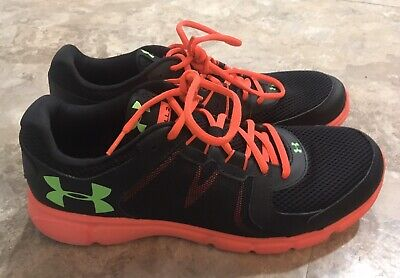 Under Armour Men's Thrill 2 Sneakers Running Shoes Black Orange Green 11.5