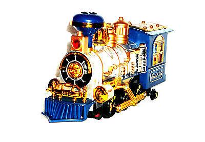 Spielzeug Eisenbahn Lokomotive Lok Train Zug mit Qualm / Dampf / Rauch Funktion
