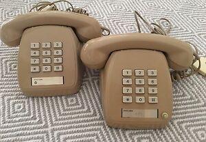 TWO RETRO PUSH BUTTON PHONES Baxter Mornington Peninsula Preview