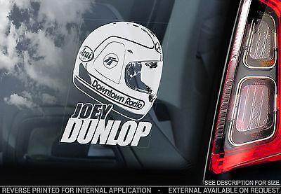Joey Dunlop - Car Window Sticker - HELMET Isle of Man TT#3 Superbike - TYP3