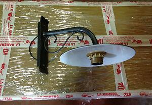 Lampada da parete Esterno in ferro battuto con piatto  eBay