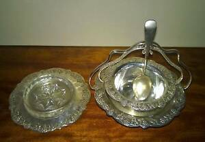 Vintage Renown Gilford Silver Plate Fruit Jam Dishes Golden Grove Tea Tree Gully Area Preview