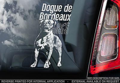 Dogue de Bordeaux - Car Window Sticker - French Mastiff Dog on Board Sign - TYP2