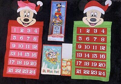 "2Disney 20""Calendar Mickey/Minnie Christmas 3Disney Cards 32Gift Cards 1 Dispenp"