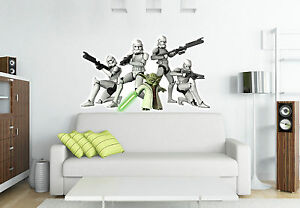 wandtattoo clone wars m bel wohnen ebay. Black Bedroom Furniture Sets. Home Design Ideas