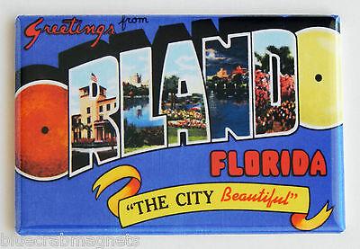 Greetings from Orlando FRIDGE MAGNET (2 x 3 inches) florida travel souvenir