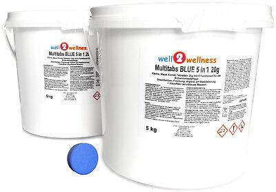Kleine Multitabs BLUE 5in1 20g mit über 90% Aktivchlor - 10 kg (2 x 5,0 kg) Kleine Tabs