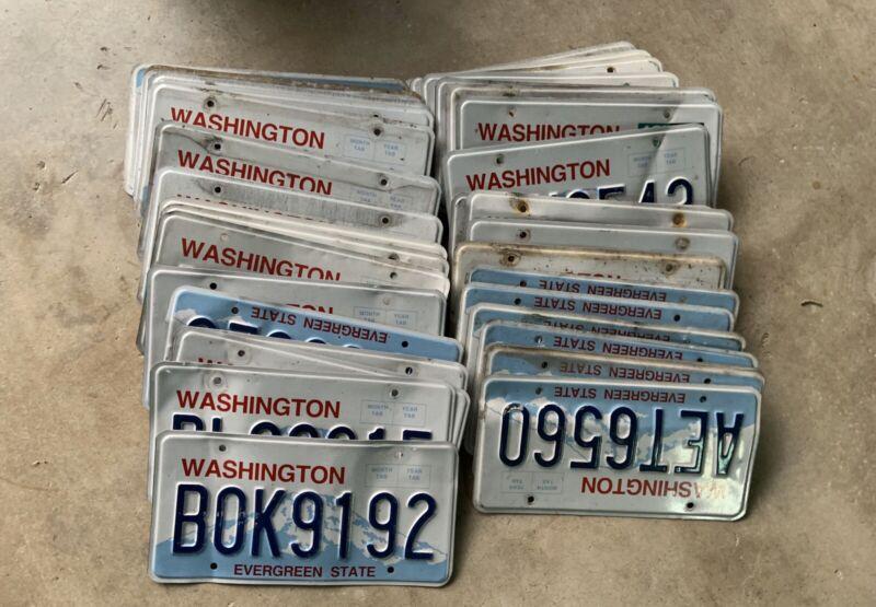 Bulk Lot 40 Washington Evergreen State GraphicCraft License Plates Free Shipping