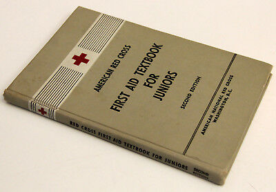 First Aid Textbook - VINTAGE 1953 First Aid Textbook for Juniors - American Red Cross, Second Edition