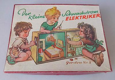 sehr alter Baukasten - Der Kleine Schwachstrom Elektriker Gordon Nr. 8