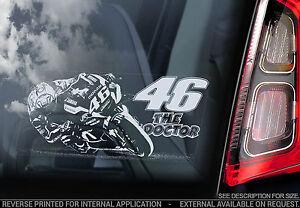 Valentino Rossi #46 - Car Window Sticker-  'The Doctor' Moto GP Yamaha V05 - NEW