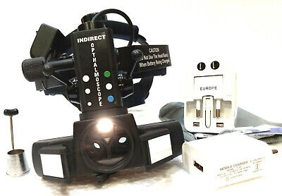 New Indirect Ophthalmoscope With Accessories Case Ophthalmology Free Shipping