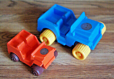 Used, Toy Jeep Cars AVON Wild Country Plastic BLUE/YELLOW + ORANGE/BROWN for sale  Windsor