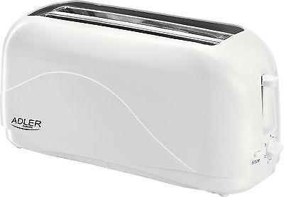 Toaster 4 Scheiben Langschlitz Toster Toastautomat 1300 Watt Schwarz NEU