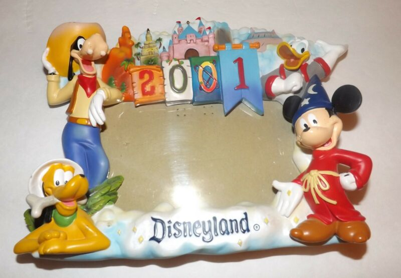 Disneyland 2001 Character Mickey Mouse, Donald Duck, Goofy, Pluto Souvenir Frame