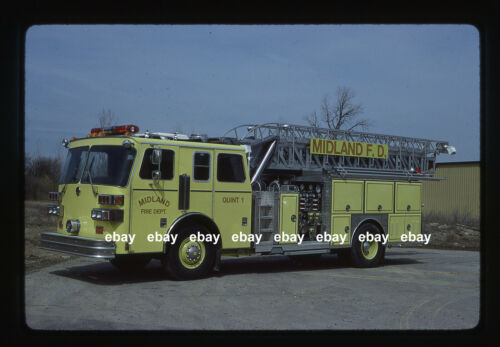 Midland TX 1989 Sutphen mini tower Fire Apparatus Slide