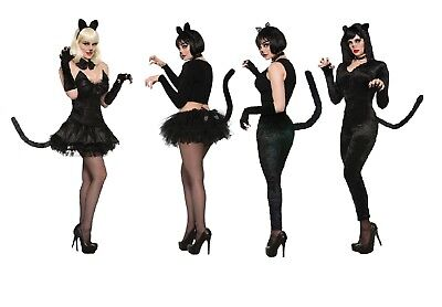 Miss Kittys Costumes (Adult Womens Miss Kitty Cat Costumes 4 Styles Halloween Fancy)