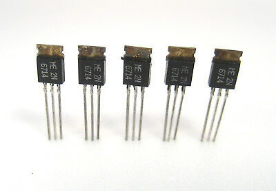 2n6714 Npn Silicon Power Transistors 40v2a 5lot Great Price Hard To Find