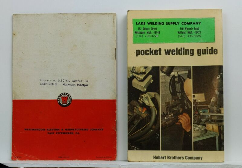 Vintage Welding Guides - Westinghouse, Hobart Brothers 1970s 1960s