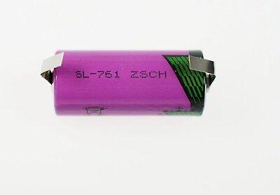 SL-761 Tadiran Lithium 2/3AA  3,6V  SL 761 Batterie mit Lötfahne