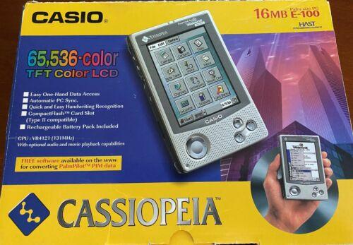 Pocket PC Casio Cassiopeia E-100/125 bundle CIB, 4 batteries, 3 stylus, working!