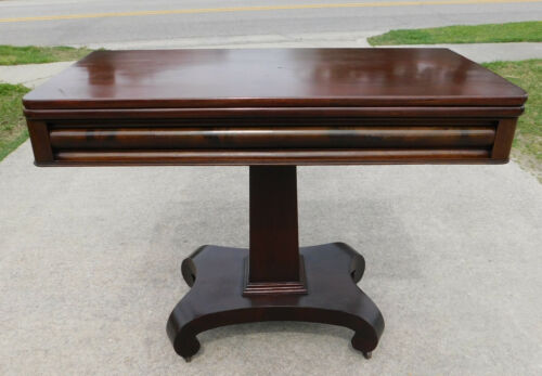 Mahogany Empire Revival Game Table circa1900