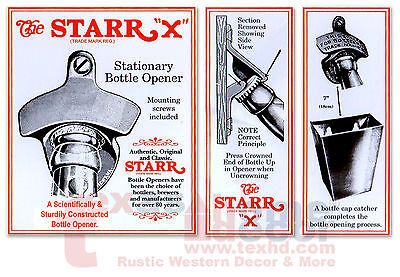 ITS BEER OCLOCK Beer Bottle Opener Starr X Wall Mounted Sturdy Humorous Funny