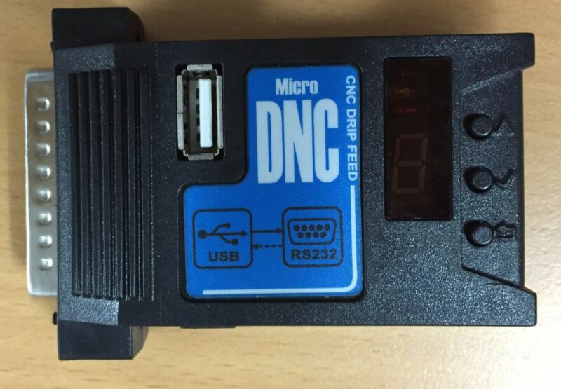 Micro DNC - Low cost USB READER for CNC machine, USB to RS232 converter, DNC eco