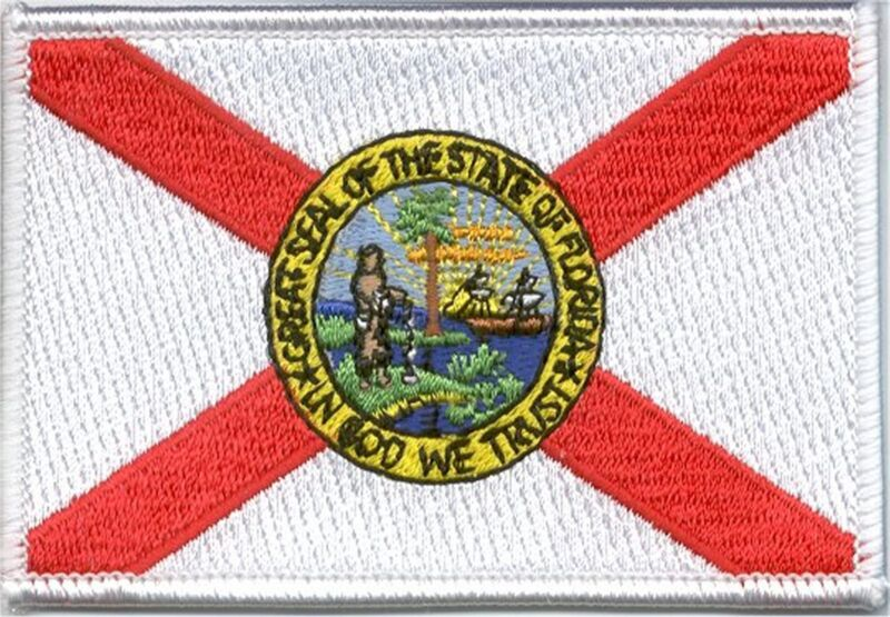 State Flag 100% Embroidered Patch - Florida