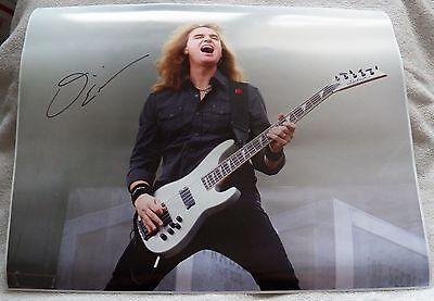 Megadeth Bassist David Ellefson Signed 16x20 Photograph Auto