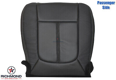 2013 2014 Ford F250 Lariat -Passenger Bottom PERFORATED Leather Seat Cover Black