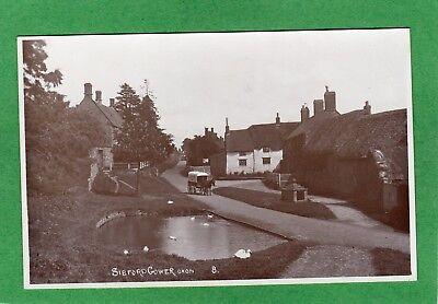 Sibford Gower Nr Hook Norton Banbury Horse & Wagon RP pc unused Simms Ref M795