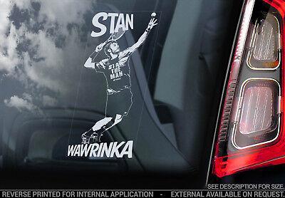Stan Wawrinka   Car Window Sticker   Switzerland Tennis Decal Fan Vinyl   V01