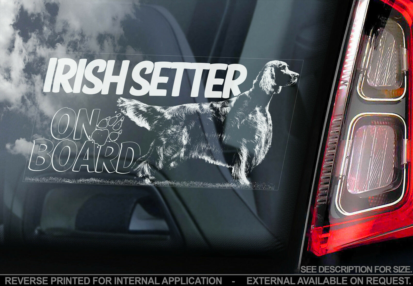 ENGLISH SETTER ON BOARD Car Sticker By Starprint