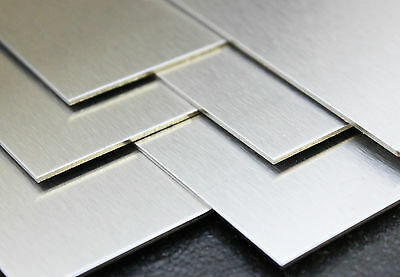 Brushed Stainless Steel 430 Sheet Plate 0.9 1.2 1.5 2mm Guillotine Cut Sheet