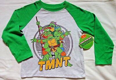Teenage Mutant Ninja Turtle T-Shirt Kids Boys Girls 3T Toddler TMNT Long Sleeve